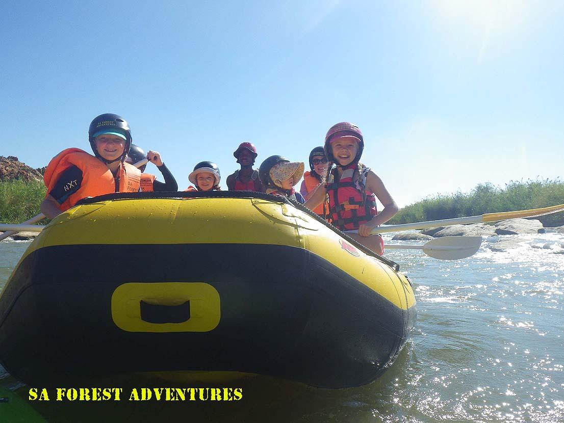 Rafting on the Orange River