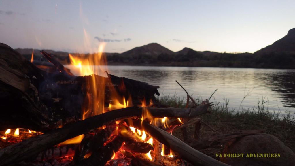 Orange River Rafting camp evening