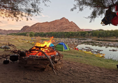 orange river rafting trail camp